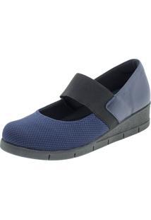 Sapato Feminino Anabela Usaflex - Ab8107 - Azul Marinho - Feminino - Dafiti