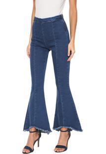 1fd4313717 ... Calça Jeans Lunender Cropped Flare Azul