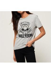 T-Shirt Bullverine Inglês Buddies Feminina - Feminino-Mescla