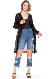 Calça Mom Jeans Destroyed