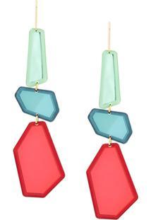 Isabel Marant Fragment Drop Earrings - Vermelho