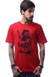 Camiseta Zero Skateboarder Tatooed Vermelho