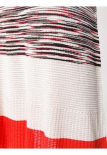 Missoni Vestido De Tricô Listrado - Branco