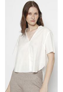 Blusa Com Fendas - Brancaosklen