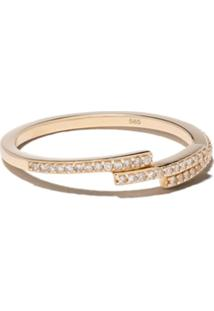 Astley Clarke Anel De Ouro Amarelo 14K Icon Scala Com Diamante - Yellow Gold