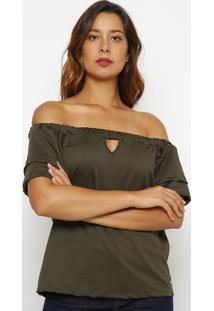 Blusa Ciganinha - Verde - Guessguess