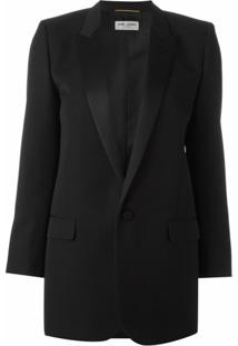 Saint Laurent Blazer Modelo 'Iconic Le Smoking 80'S' - Preto