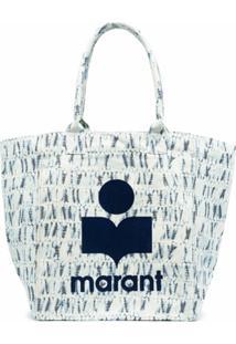 Isabel Marant Bolsa Tote Com Estampa De Logo - Azul