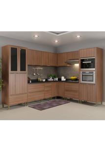 Cozinha Completa 10 Módulos 19 Portas Calábria Multimóveis Nogueira