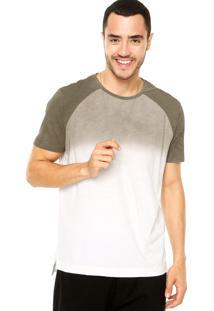 Camiseta Calvin Klein Jeans Tinturado Verde/Branco