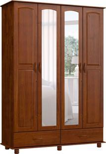 Guarda-Roupa Casal Com Espelho Ônix 4 Pt 2 Gv Imbuia