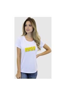 Camiseta Suffix Blusa Branca Sem Estampa Basica Gola Redonda Estampa Brooklyn Nine Nine