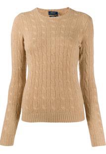 Polo Ralph Lauren Suéter Slim De Tricô - Marrom