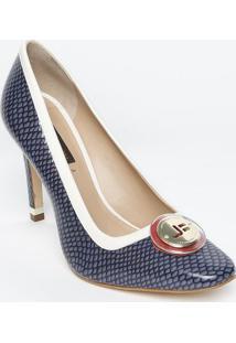 2cb54f421 Privalia. Sapato Tradicional Em Couro Com Aplicação- Azul Escuro &Jorge  Bischoff