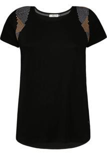 Camiseta Khelf Com Termocolantes Preto