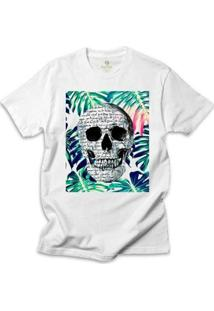 Camiseta Surf Cool Tees Caveira Tropical Shakespeare - Masculino