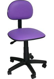 Cadeira Giratória Secretária Ibiza Corano Roxo