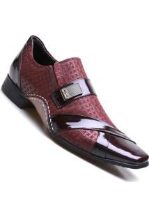 Sapato Social Calvest Moderno Bordo Masculino - Masculino-Bordô