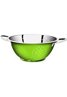 Escorredor Verde De Massa Em Aã§O Inox Color - 24Cm Gourmet Mix