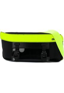 Dsquared2 Pochete Com Contraste Amarelo Fluorescente - Preto