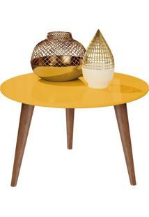 Mesa Centro Retrã´ Cissa - Amarelo - Compre Aqui - Incolor - Dafiti
