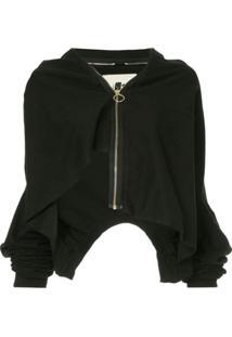 Aganovich Layered Zip-Up Jacket - Preto