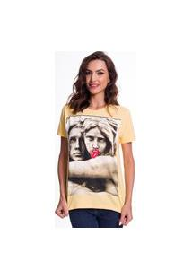 Camiseta Jazz Brasil Estátuas Amarela