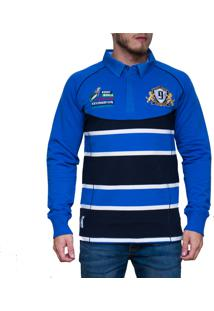 Blusa Kevingston Brown Rugby Azul Listrado