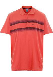 Camisa Polo Plus Size Masculina Sg - Coral