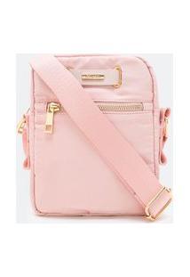 Bolsa Bag Transversal   Satinato   Rosa   U