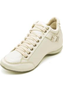 Bota Peccato Sapatos24Horas 3/4 Confort Fivela Nude.