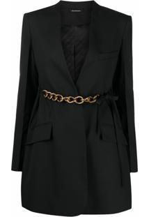 Givenchy Blazer Com Cinto De Corrente - Preto