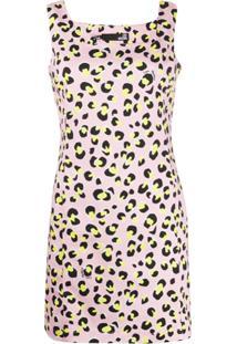 Love Moschino Vestido Com Estampa De Leopardo - Rosa