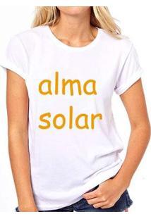 Camiseta Coolest Alma Solar Feminina - Feminino-Branco