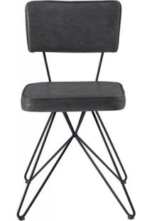 Cadeira Pop Retro Courissimo Preto Base Estrela Preta 53Cm - 61251 - Sun House