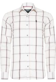 Camisa Masculina Navy Stretch - Off White