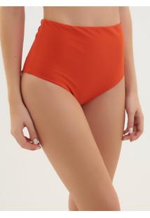 Calcinha Rosa Chá Audrey Orange Beachwear Laranja Feminina (Pureed Pumpkin, P)
