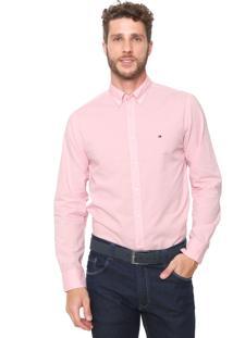 Camisa Tommy Hilfiger Reta Classic Rosa