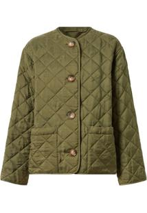 Burberry Logo Print Quilted Jacket - Verde