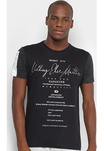 Camiseta Gangster Nothing Else Matters Masculina - Masculino-Preto