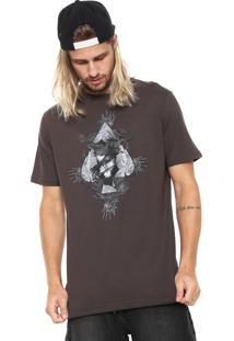 Camiseta Mcd Estampada Marrom