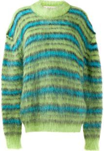 Marni Suéter Oversized Listrado - Verde
