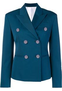 Calvin Klein 205W39Nyc Blazer Com Lapelas - Azul