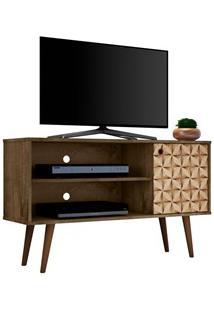 Rack Bancada Para Tv Até 42 Pol. Jade Madeira Rústica/Madeira 3D - Bec