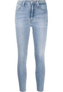 Calvin Klein Jeans Calça Jeans Skinny Com Cintura Alta - Azul