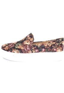 Tênis Flatform Quality Shoes Feminino 004 Floral 34