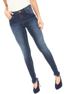3416026e2d ... Calça Jeans Dudalina Skinny Barra Assimétrica Azul