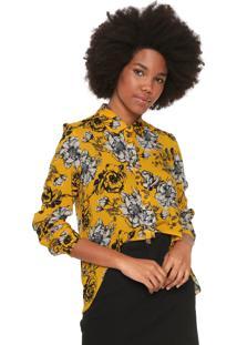 Camisa My Favorite Thing(S) Floral Amarela