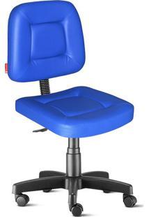Cadeira Escritório Azul Giratória