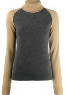 Givenchy Suéter Com Mangas Contrastantes - Cinza